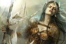 Female warriors, rogues, assassins etc.