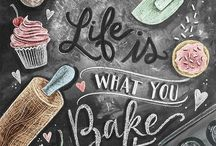 Life is what you Bake it / Baked Goods, Sweet Treats and Desserts for every mood