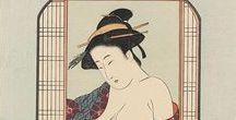 ('j')002-1//江戸1603-美人浮世絵feminine- beauty・ ukiyoe (EdoPeriod) / [江戸時代]  feminine beauty of Japan・美人画・ 役者絵・風俗図//版画/絵画/写真etc,  (江戸1603-1867)EDO period