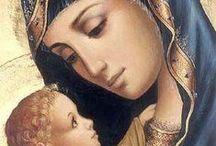 ['w']  religious pictures  / iconography・宗教画 / ['w'] 世界の 母子・父子・聖人・信者 etc, (イラスト・油絵・像 など)