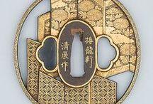 ('j')04[職人技] 刀・鍔・兜・鎧・刃物/ 侍の絵 [Japan] / [Japan] sword ・tuba・helmet・armor  cráftsmanshìp /craftswoman(^.^)  good craftsman