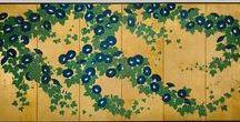 (Jp-E) 鈴木其一  Kiitsu Suzuki  (1796~1858) / 江戸の絵師 鈴木其一SuzukiKiitsu (師匠の酒井抱一も含むincluded SakaiHouitsu(1761~1828))