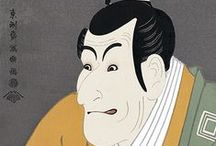 (Jp-E) 東洲斎 写楽 Syaraku / 江戸時代中期の浮世絵師。約10か月の短い期間に役者絵その他の作品を版行したのち、忽然と画業を絶って姿を消した謎の絵師として知られる。その出自や経歴については様々いわれる