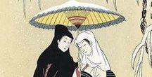 (Jp-E)  鈴木春信 Harunobu  Suzuki (1725年ー1770年 ) / 鈴木 春信(すずき はるのぶ〈1725年ー1770年〉江戸時代中期の浮世絵師