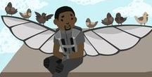 Sam Wilson/Falcon / Sam Wilson, Falcon, Marvel with ocasional cameo of rest of Team Cap