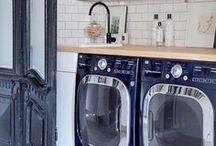 STYLISH ENTRYWAYS & MUD ROOMS / Mudrooms, Entry Ways, Home Decor, Interior Design, Laundry Spaces, Stylish Laundry, Coat Storage