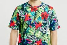 TROPICAL TRANCE | PRINTS / Psychedelic tropical print, graphic & design inspiration for printed T-Shirts & Products. #downloadt-shirtdesigns