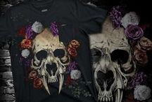 GOTHIC BLOOM | PRINTS / Dark and sinister floral print, graphic & design inspiration for printed T-Shirts & Products. #downloadt-shirtdesigns