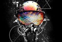 SPACE | PRINTS / Galactic and space print, graphic & design inspiration for printed T-Shirts & Products. #downloadt-shirtdesigns
