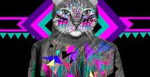 GEOMETRIC | PRINTS / Geometric print, graphic & design inspiration for printed T-Shirts & Products. #downloadt-shirtdesigns
