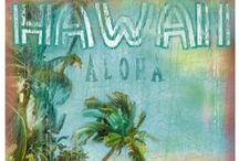 TROPICAL NOSTALGIA | PRINTS / Vintage and Retro tropical print, graphic & design inspiration for printed T-Shirts & Products. #downloadt-shirtdesigns
