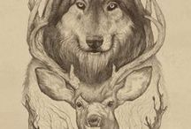 CALL OF THE WILD | PRINTS / Woodland and forest creature print, graphic & design inspiration for printed T-Shirts & Products. #downloadt-shirtdesigns
