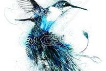 BIRD LIFE | PRINTS / Bird print and graphic inspiration and design for T-Shirts.