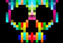 PIXEL | PRINTS / Pixel print, graphic & design inspiration for printed T-Shirts & Products. #downloadt-shirtdesigns