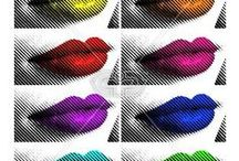 LIPS & KISSES | PRINTS / Lips & Kisses print, graphic & design inspiration for printed T-Shirts & Products. #downloadt-shirtdesigns