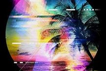 GLITCH | PRINTS / Glitch effect print, graphic & design inspiration for printed T-Shirts & Products. #downloadt-shirtdesigns