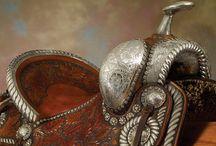 Tack-rooms , Saddles , bridles , Cowboys and....... / Saddles , Cowboys and.....