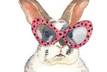 BUNNY RABBIT | PRINTS / Rabbit, Bunny or Lapin print, graphic & design inspiration for printed T-Shirts & Products. #downloadt-shirtdesigns