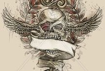GOTHIC PIRATE | PRINTS / Dark and sinister nautical print, graphic & design inspiration for printed T-Shirts & Products. #downloadt-shirtdesigns