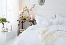 White Bedroom Inspiration / White bedroom design inspiration http://www.stripesnvibes.com/