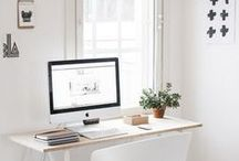 Work space design ideas / Work space (big and small) design and organization ideas http://www.stripesnvibes.com/