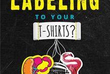 T-SHIRT GARMENT LABELS / Creative garment labelling ideas. #downloadt-shirtdesigns