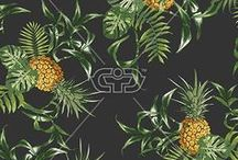 PINEAPPLE | PRINTS / Pineapple print, graphic & design inspiration for printed T-Shirts & Products. #downloadt-shirtdesigns