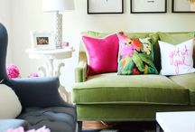 Lime Living / A Twist of Lime in the Living Room