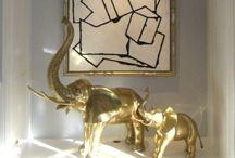 Brassy Vignettes / Vignettes utilizing brass accessories / by Limezinnias Design