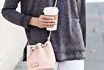 P I N K / Pink bags, pink shoes, pink sweaters, pink jackets, everything pink