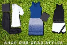 Grad Style / Happy graduation season! Just because it may not be your day, doesn't mean that YOU can't still look fabulous! Check out our graduation styles that are as fashion forward as they are comfortable!