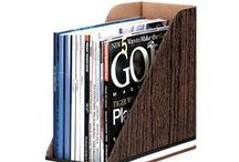 Magazine Files / Organize magazines, files for everyday use and other easy access documents for your desktop.