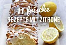 Wenn das Leben dir Zitronen gibt, mach diese Rezepte! / Wenn das Leben dir Zitronen gibt, dann back einen Kuchen daraus! Oder mach frische Limonade oder koch Lemoncurd! Auf einer Pinnwand versammelt: unsere liebsten Rezepte mit Zitrusfrüchten. Denn ob Zitrone oder Limette - sauer macht Lustig!