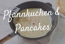 Pfannkuchen, Pancakes & Crêpes / Pfannkuchen gehen immer! Ob als fluffige Pancakes zum Frühstück oder hauchdünne, herzhaft oder süß gefüllte Crêpes. Ob zur Crêpe-Torte geschichtet oder im Ofen mit Käse überbacken - Pfannkuchen machen einfach glücklich! Wie man bei so viel Pfannkuchen-Liebe in Shape bleiben soll? Na, mit Low-Carb-Pancakes!
