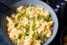 Couscous, Bulgur und Hirse / Es muss nicht immer Reis und Pasta sein! Hol dir mit Bulgur orientalische Inspiration in die Küche oder koch dir gesunde Köstlichkeiten mit Couscous. Und wusstest du, dass Hirse ein wahres Schönheitselixier ist? Egal ob als süße oder pikante Speise, als Beilage oder Hauptgericht - Couscous & Co sind nicht nur schnell zubereitet, sondern bringen leckere Abwechslung auf den Teller.