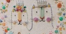 Contemporary Hand Embroidery / Embroidery Hoop, Needle, Thread, Floss, Hand Embroidery, Embroidery Art, Embroidery Pattern, Modern Hand Embroidery, Hand Stitched, Sewing Project, Sewing is Required, How to, Completed Projects