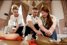 CPR Sessions! / In October 2014, some of Shipley College's students took part in an attempt to break a world record through CPR. They also learned vital skills which could potentially save someone's life one day.