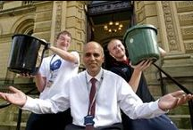 Latest internet craze hits Shipley College like cold water! Wait... / Principle Nav Chohan takes part in the internet phenomenon the 'Ice Bucket Challenge!'