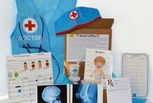 Activity Kits and Inspiration / Pretend play kits for kids age 3 - 7. Hours of educational fun. Each kit is designed to be fun while strengthening developmental and academic skills including motor skills, math, reading, writing, geography and science. Buy a single kit or buy monthly. Gift subscriptions also available!