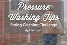 pressure washing tips / tips on how to use a pressure washer to clean various surface types