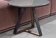 Rug &table &room / #contemporary # design # metal #tables