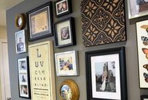 Photo Wall Ideas / Unique ideas for creating beautiful family photo walls in your home.