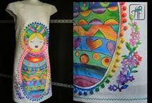 Painted dresses / hand painted dresses