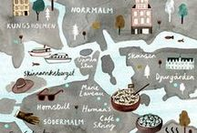 Illustrated Maps / Illustrierte Karten / gezeichnete karten, landkarten, städte, länder, kontinente, illustrativ, city, region, regionen,art, ink, food, kids, character, design, man, woman, animal, artwork, grafik, people, food, drawing