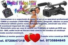 Digital Foto Video-HDV / Cameraman cu experienta de peste 17 ani execut filmari si poze digitale pentru nunti, botezuri, majorate, onomastici, petreceri sau orice alt eveniment important din viata ta. Cu aparatura profesionala de inalta definitie 3 CMOS HDV dublata de pasiunea pentru film si fotgrafie. Amintirea ta poate fi realizata SD 720/576 format 4/3, SD 720/576 format 16/9, HD 1440/1080 format 16/9 sau 1920/1080 format 16/9 . Momentele unice pe care le vei traii vor fi redate pe DVD, Blu-Ray sau HD-DVD, astfel inc