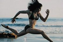 Fitness Running / Running is a great exercise and workout.