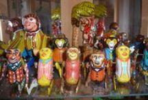 Blechspielzeug und auch Celluloid / Überschlags- Affen, Bären & Clowns --- Somersaulting Monkeys. Bears & Clowns