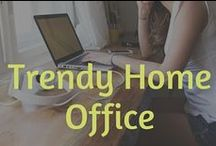 Trendy Home Office Designs For Entrepreneurs / Home office designs for small business owners, entrepreneurs and bloggers. Its important to create a beautiful space for your home office | Find some inspiration from this collection of home decor