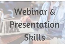Webinar And Presentations Tips / Running a webinar or a training workshop? Grab some tips and inspiration for your next live event | Develop your webinar and presentation skills