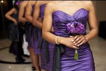 Purple Weddings / Wedding inspiration featuring purple and plum colors.